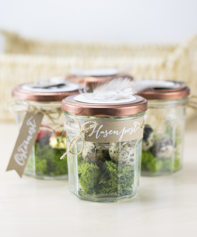 Upcycling osternest im marmeladenglas kreativliebe - Marmeladenglas deko ...