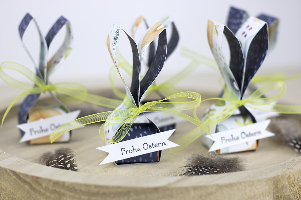 Hasen-Tischdekoration mit Ferrero Küsschen