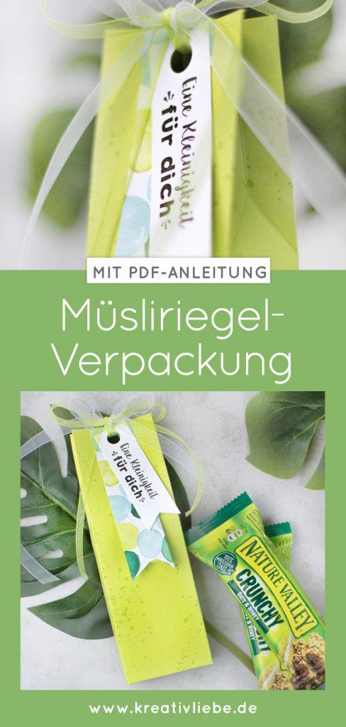 PDF Anleitung zum Basteln einer Müsliriegel-Verpackung