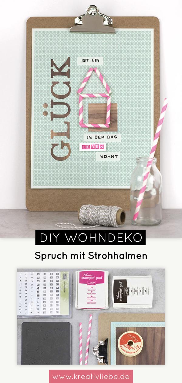 Klemmbrett mit Spruch als DIY Wohndeko