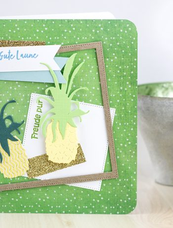 Sommerliche Ananas Grußkarte