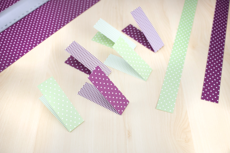 Schneller DIY Papierherzen-Kranz zu Muttertag