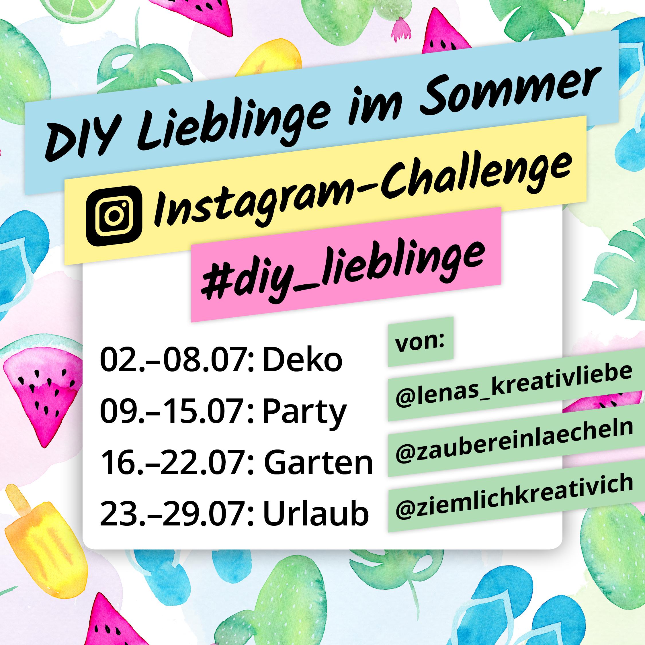 Instagram Challenge DIY Lieblinge