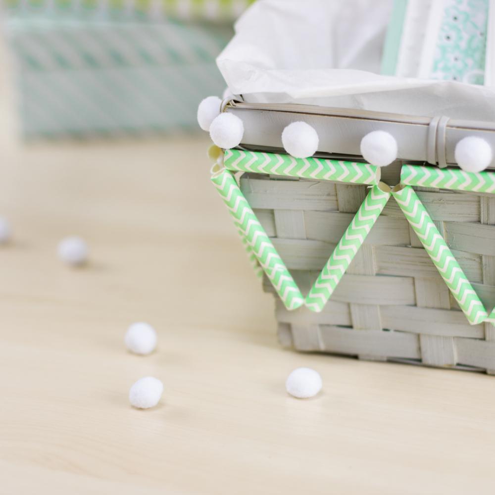 Koerbe Papierstrohhalmen DIY Blog kreativliebe Korb-Dekoration
