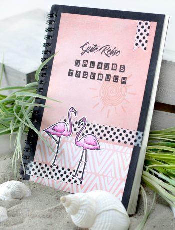 Reisetagebuch Flamingo Stempel