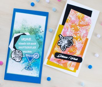 Kreativliebe gestempelte Karten