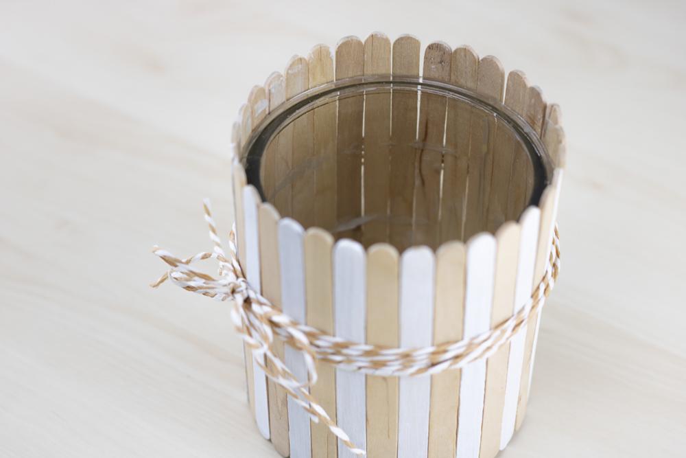 Eisstäbchen Übertopf DIY Kreativliebe selbermachen