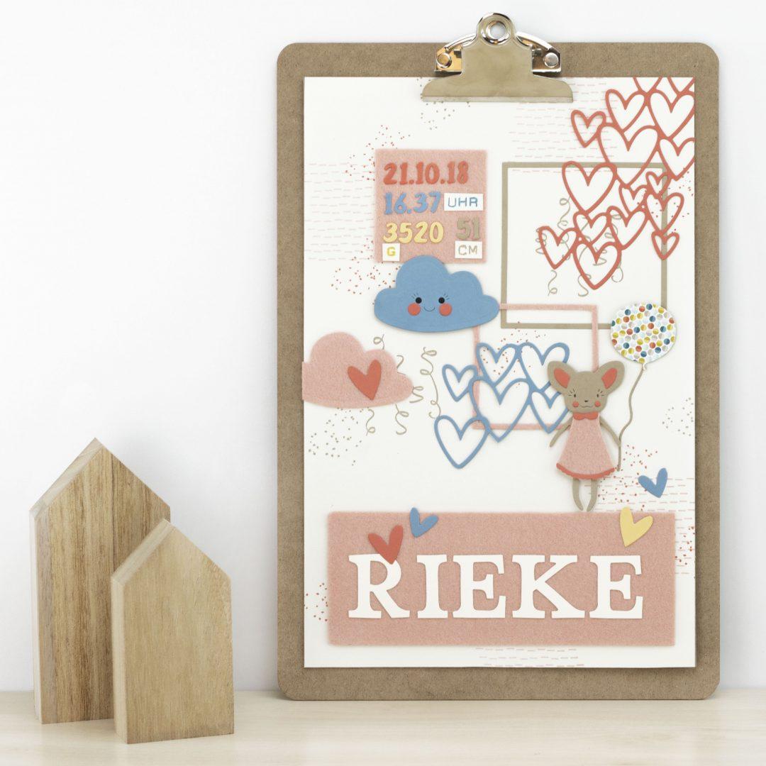 Klemmbrett-Dekoration fürs Babyzimmer - Kreativliebe