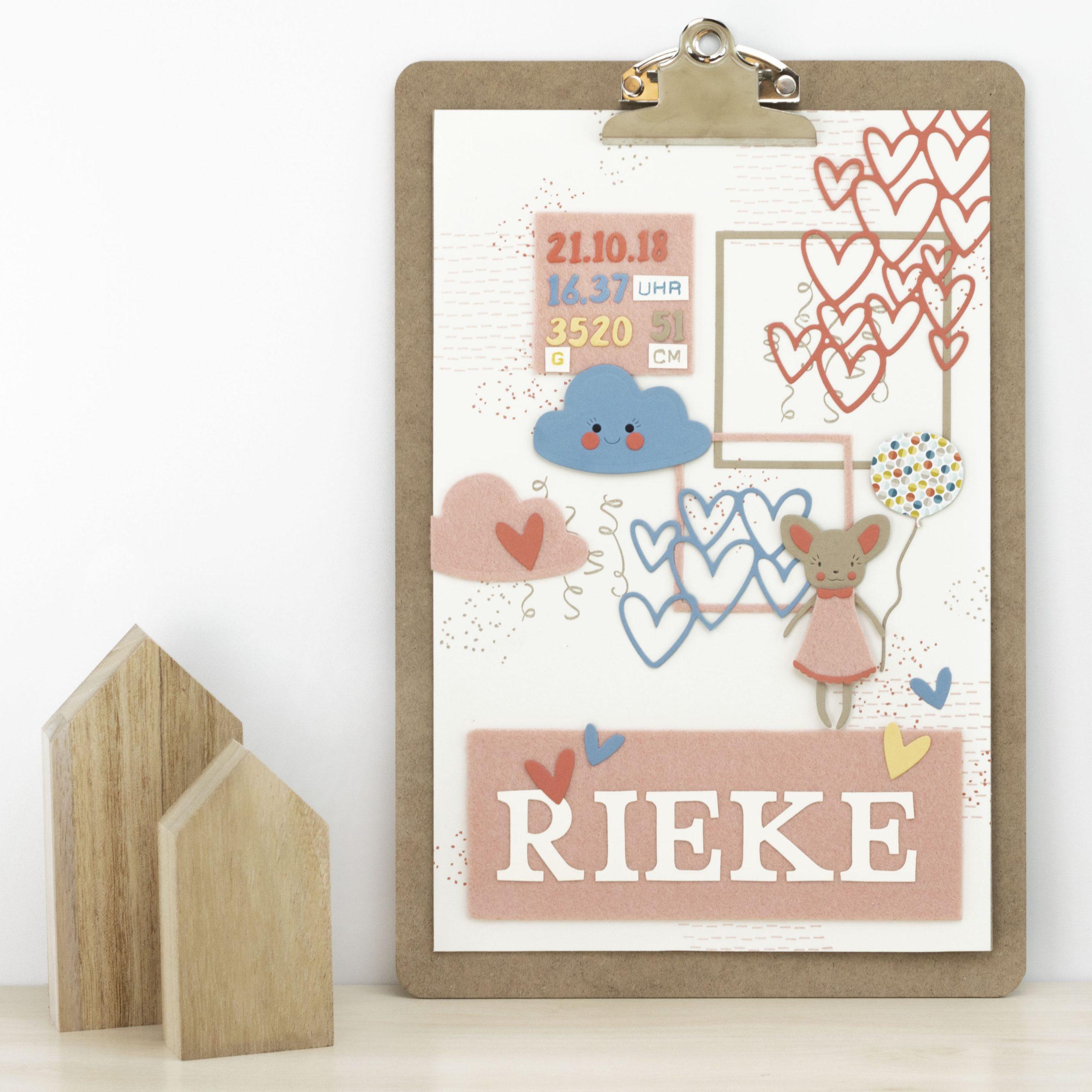 Klemmbrett-Dekoration fürs Babyzimmer