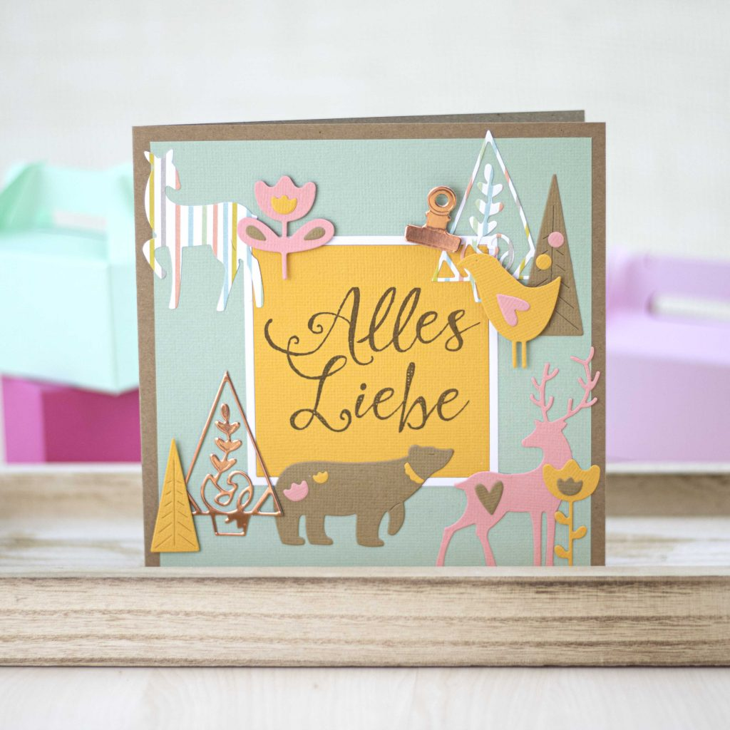 Style Sizzix summer greeting card