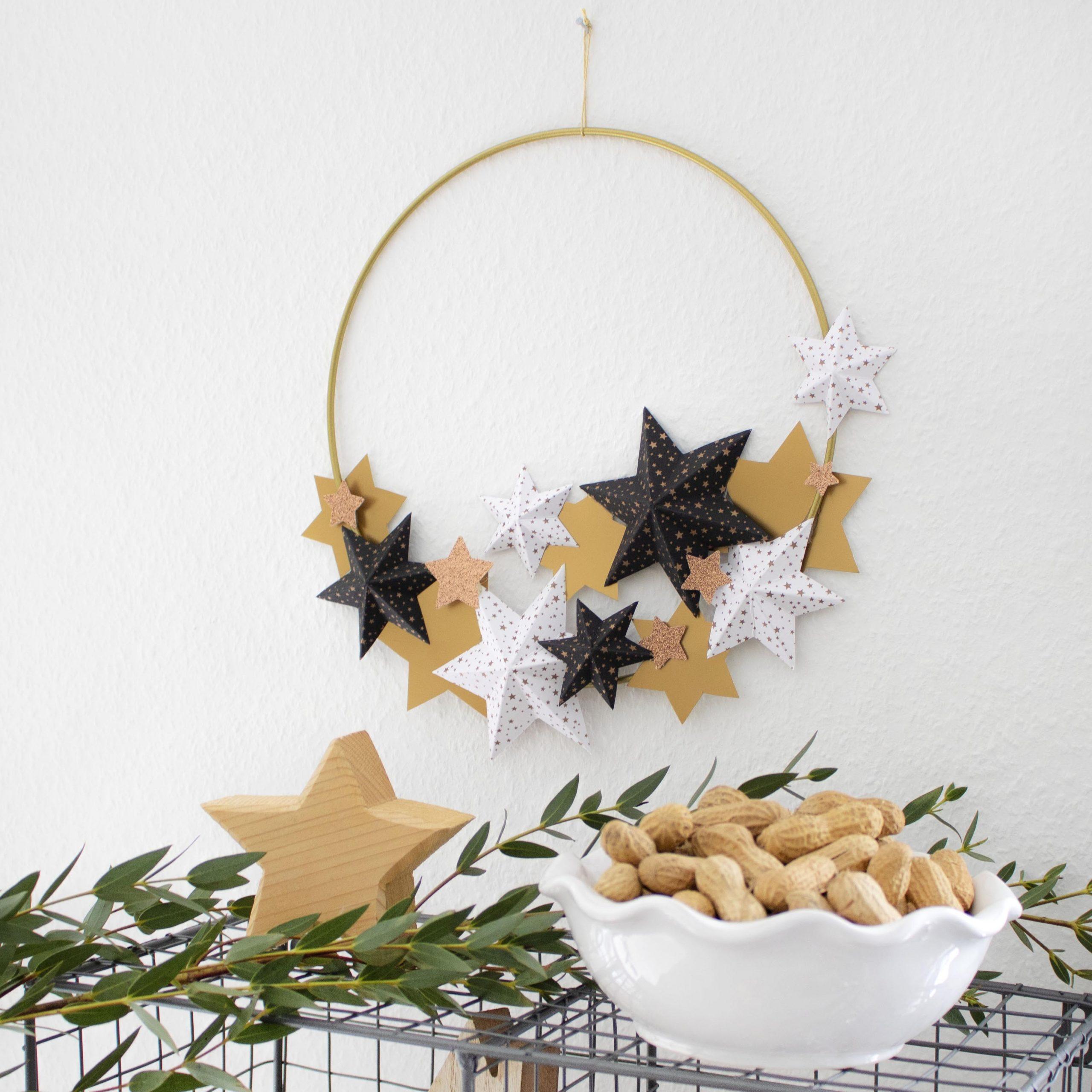 DIY: Hyggeliger Sternen-Kranz