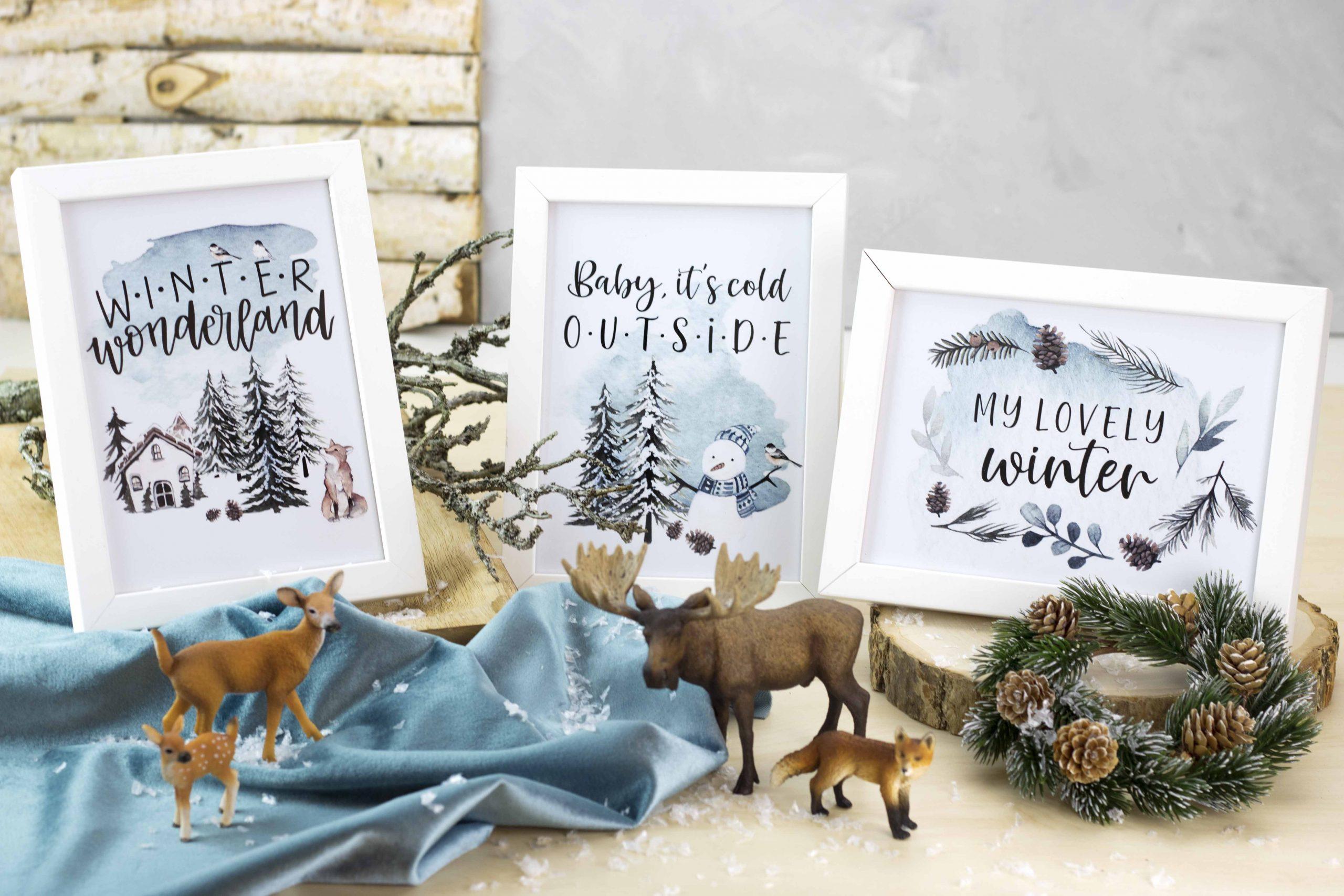 Last-Minute Geschenk: Winterbilder im Rahmen (inkl. Freebie!)