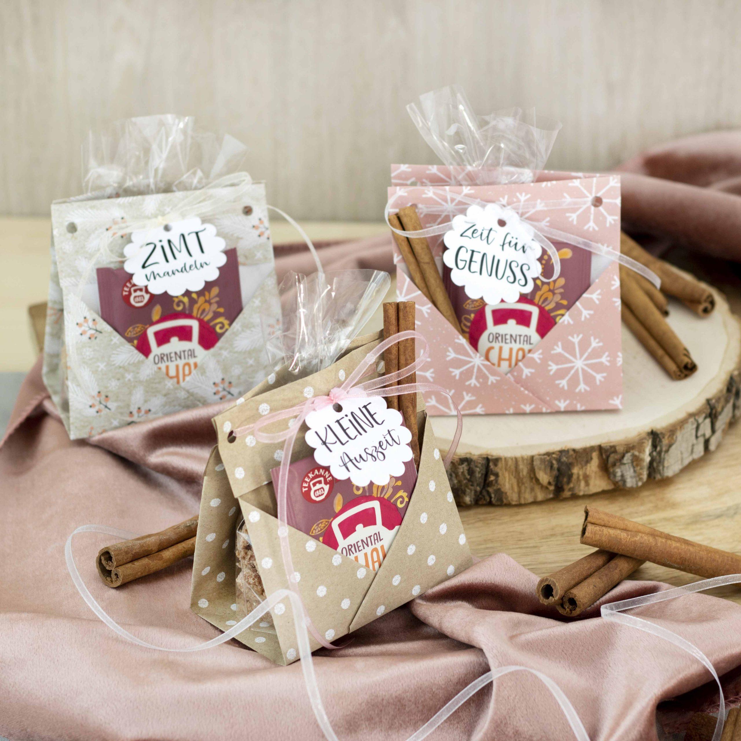 Last-Minute DIY: Tea-Bag Verpackung für Zimtmandeln
