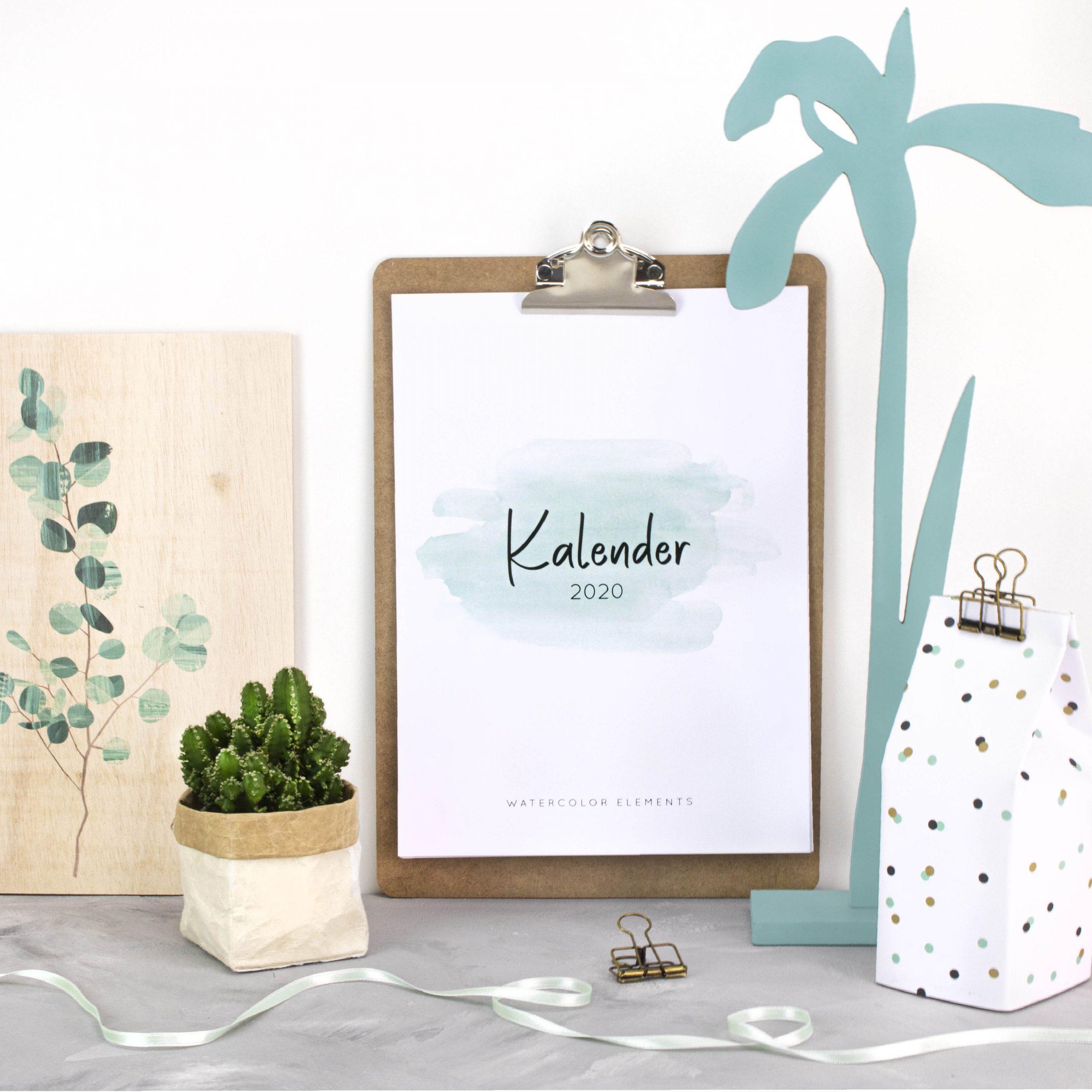 Kalender 2020 Kostenloses Printable