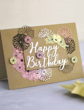 Grußkarte Blüten Geburtstagskarte