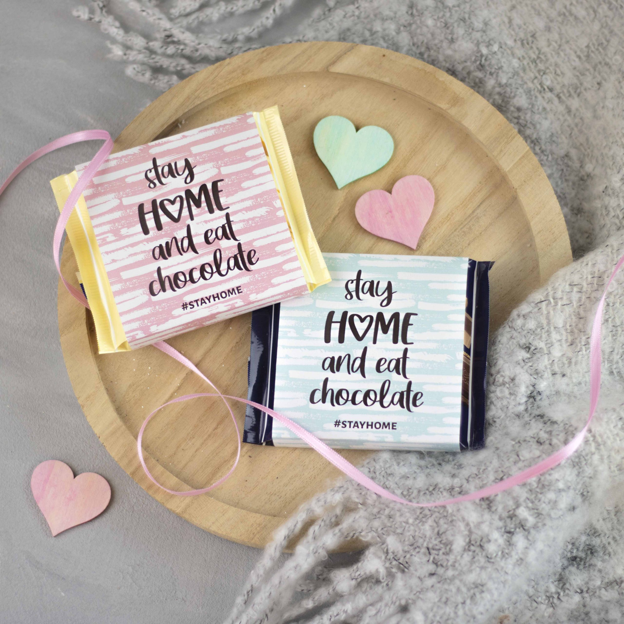 Printable: Schokoladen-Banderole für Ritter-Sport-Tafel