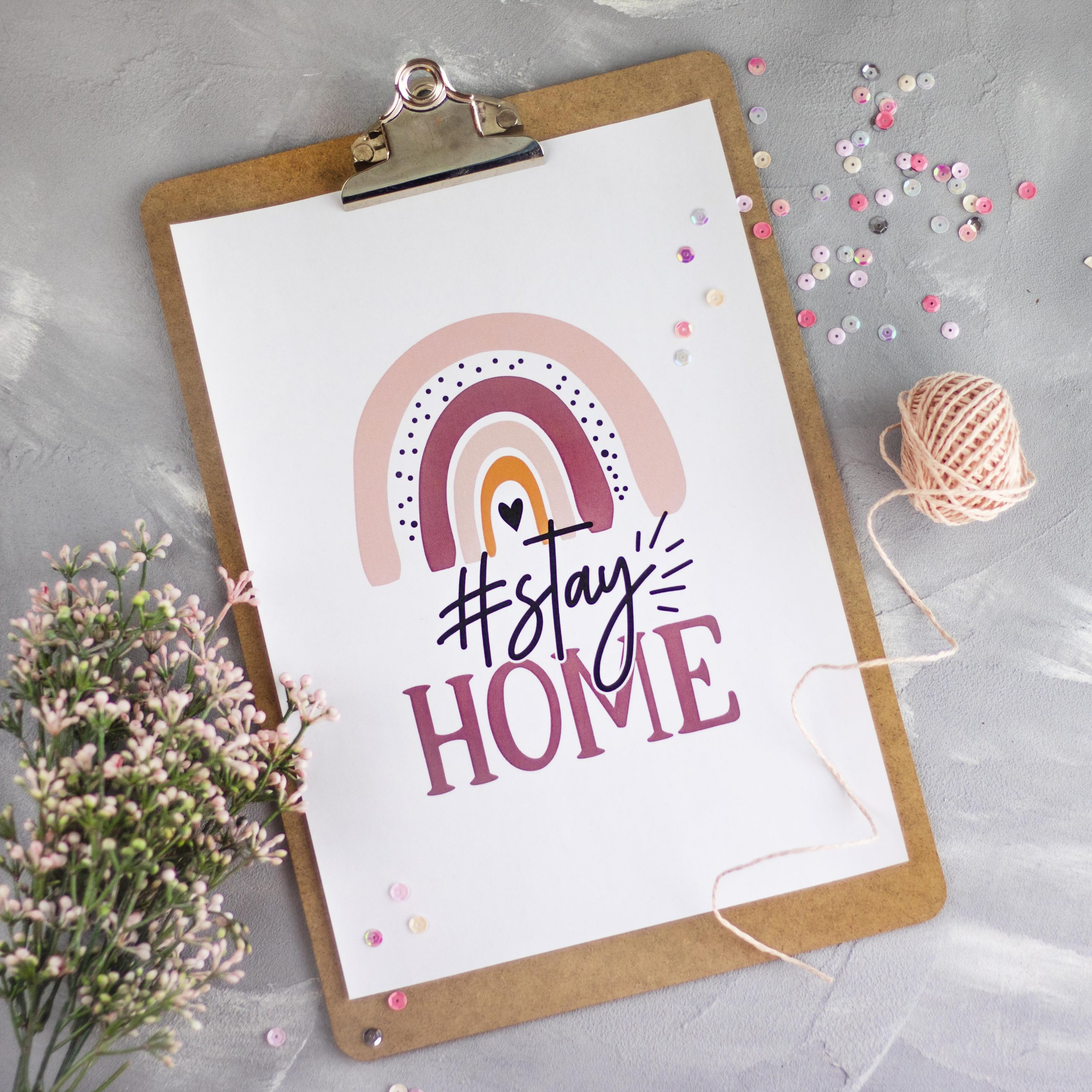 Stay Home: Kostenloses Printable für dich!