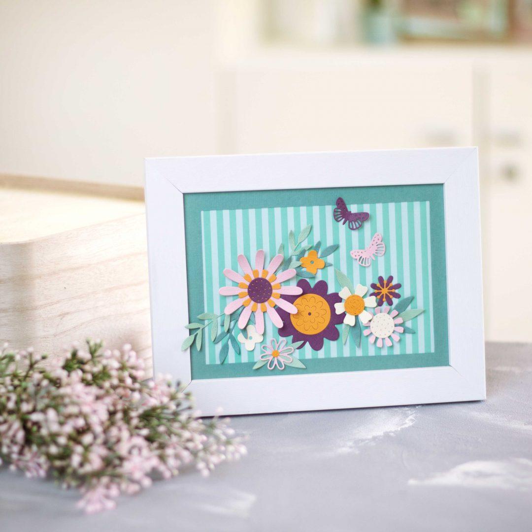 Sizzix Rahmen Sizzix Sommerblüten Wohndekoration Blüten Bold Flora