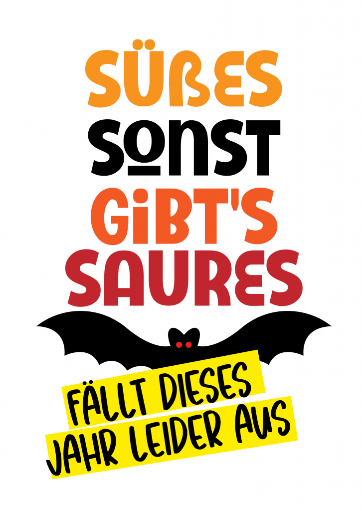 Freebie Printable Halloween fällt aus PDF zum Download