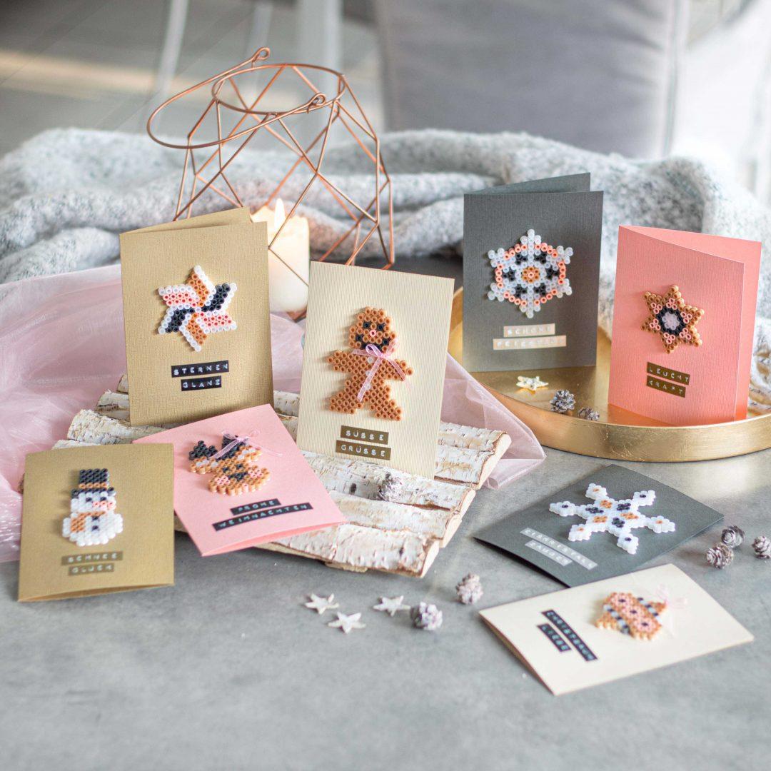 Bügelperlen Weihnachtskarten