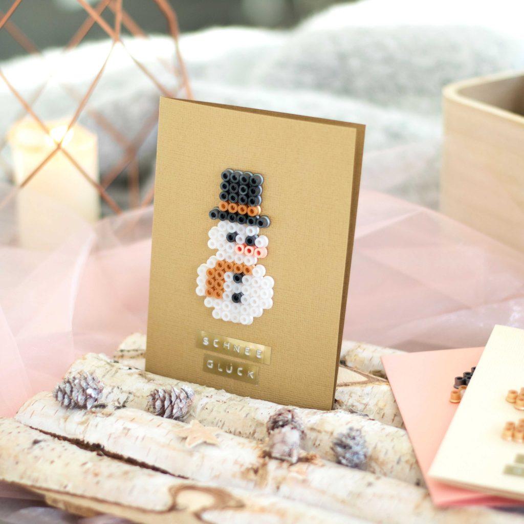 Bügelperlen Grußkarten für Weihnachten