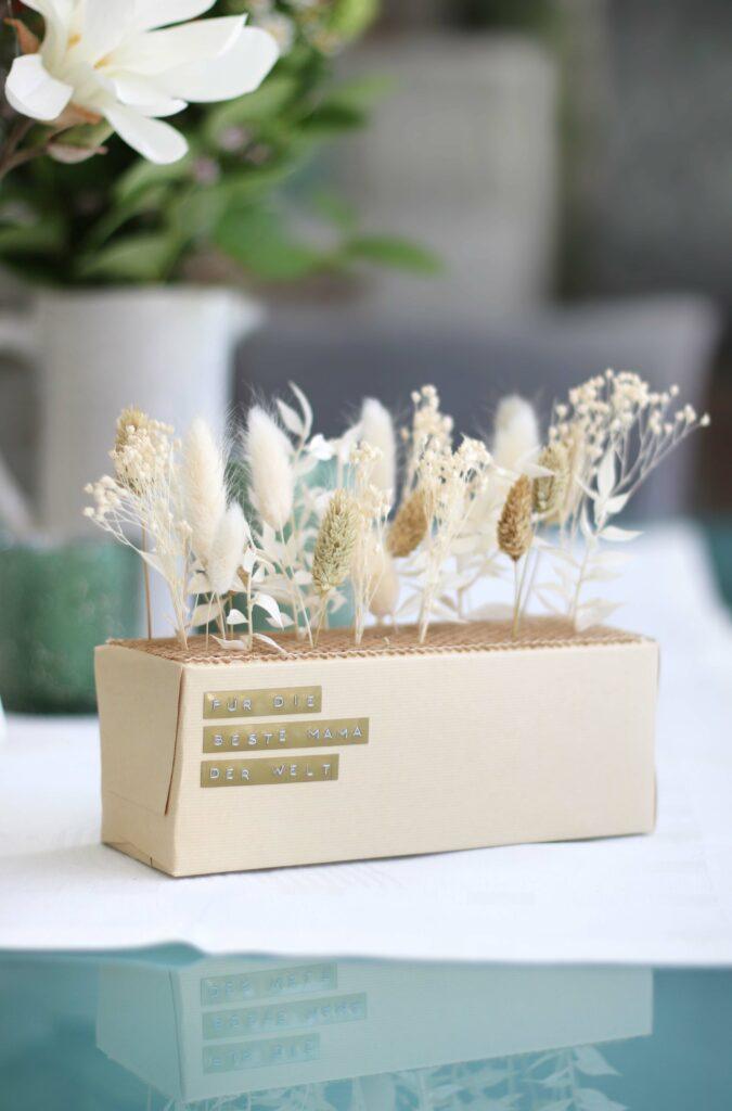 Trockenblumen Geschenkidee